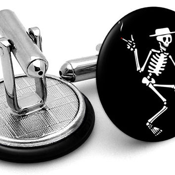 Social Distortion Skeleton Cufflinks