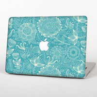 The Intricate Teal Floral Pattern Skin for the Apple MacBook Air - Pro or Pro with Retina Display (Choose Version)