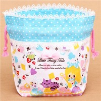 Alice in Wonderland fairy tale bento pouch lunch bag Japan - Lunch Bags - Bags - Accessories