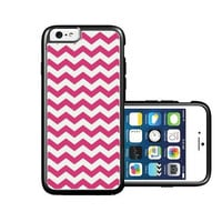 RCGrafix Brand Bright Pink Thick Chevron iPhone 6 Case - Fits NEW Apple iPhone 6