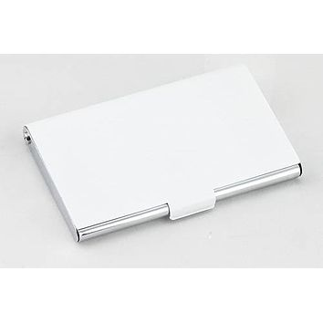 Personalized Free Engraving Black or White Business Card Holder