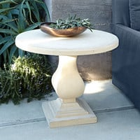 Iona Stonecast Outdoor Table - Neiman Marcus