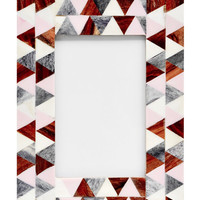 Pastel Triangles Picture Frame