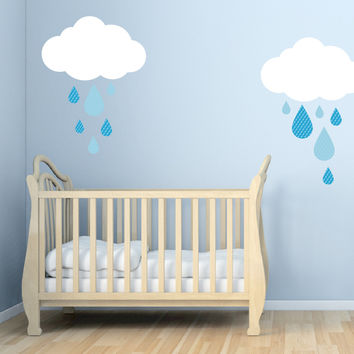 Nursery wall decals - Sweety Rain Drops