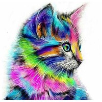 Europe Wall Art Frameless Animal cat Pictures Painting By Numbers DIY Digital Oil Painting On Canvas Home Decoration