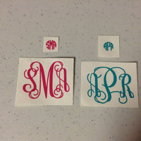 IPhone Monogram Decal Set button case mini 2""