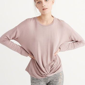 Womens Active Long-Sleeve Twist Tee | Womens Tops | Abercrombie.com