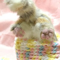 Electronic Newborn Calico Kitten Animatronic Art doll MOVES on SALE
