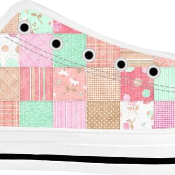 ROLT Quilted with Neutrals Adult Low Tops