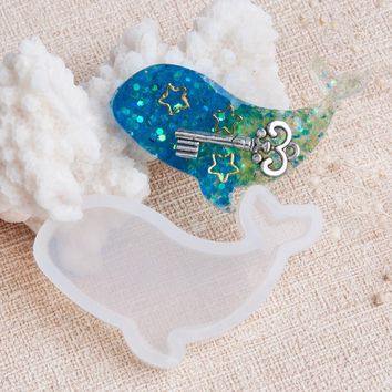 "Doreen Box 2017 Fashion Whale Animal Shape Silicone Resin Mold For Jewelry Making White 47mm(1 7/8"") x 30mm(1 1/8""), 1 Piece"