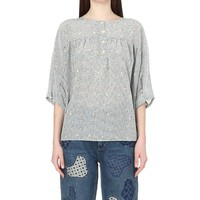 MIH JEANS - Geometric-print silk top | Selfridges.com