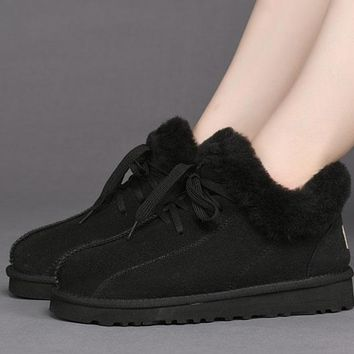 Best Online Sale Ugg 1011894 Black Classic Sheepskin Boots Snow Boots #1011894 3