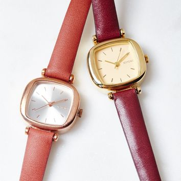 Free People Moneypenny Slim Leather Watch