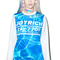 Joy Rich Waves Long Sleeve Tee Blue