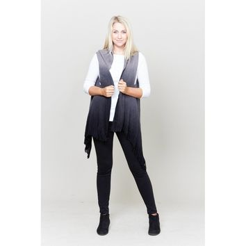 Ombre Tassel Scarf Vest