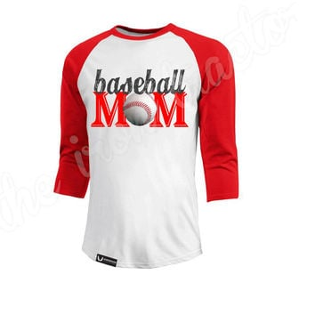 Baseball MomShirt ~ Baseball Mom Shirt ~ Digital Transfer