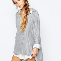 Free People Striped On The Road Shirt at asos.com