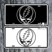 Grateful Dead Steal Your Face Decal License Plate Car Tag