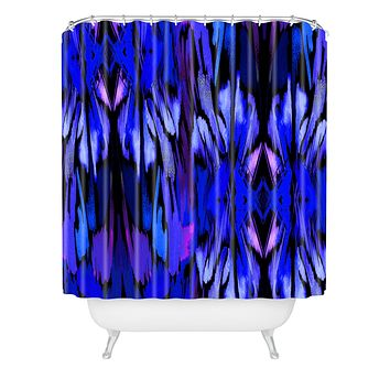 Holly Sharpe Indigo Fever Shower Curtain