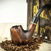 Smoking Pipe . Wood carved smoking pipe. Tobacco Pipes. Wooden Pipe. Tobacco Bowl. Wooden Pipes.