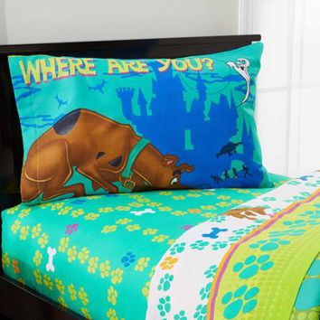 Scooby Doo Smiling Scooby Twin Sheet Set - Walmart.com