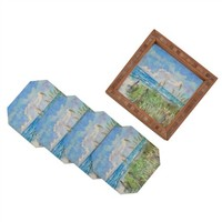 DENY Designs Rosie Brown Paradise Found Coasters, Set of 4