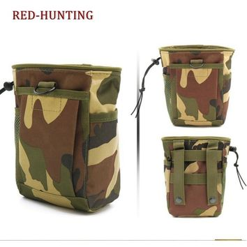 Tactical molle Pouch Folding Ammo Magazine Dump Pouch Drop Down Mag Utility Bag Hunting Airsoft Sports