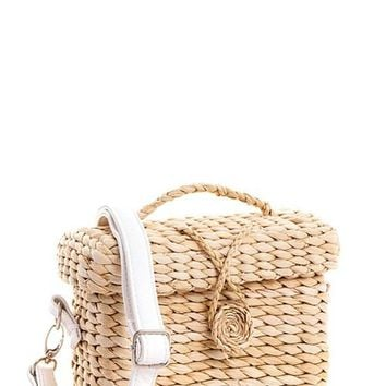 Straw Bag With Adjustable Strap