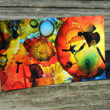 Colorful glass photo magnet, refrigerator magnet, kitchen decor, fridge photo magnets, abstract art print, colorful photography, color burst