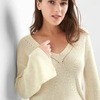 Pointelle V-neck sweater | Gap