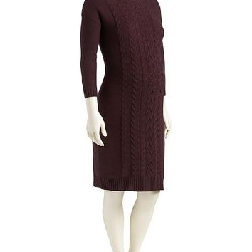 Old Navy Maternity Cable Knit Sweater Dress