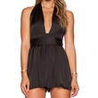 Toby Heart Ginger Tie It Your Way Playsuit in Black