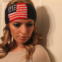 Winter Olympics, American flag headband, team USA hair band