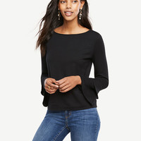 Petite Double Flare Sleeve Top | Ann Taylor
