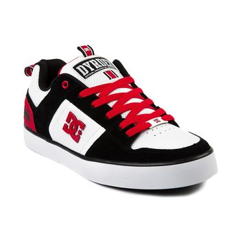 Mens DC Rob Dyrdek Select Skate Shoe, Black White Red | Journeys Shoes