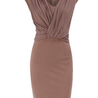 Petite mink drape dress - View All - Dresses - Dorothy Perkins United States