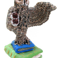 Owl from the magical world of Harry Potter, Polymer clay owl, Figurine owl
