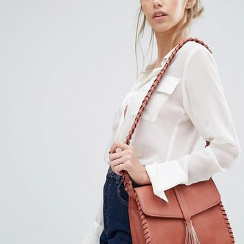 Glamorous Cross Body With Whipstitch Detail at asos.com
