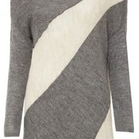 alice + olivia | CELESTE SUN BURST COLLAR BLOCK SWEATER