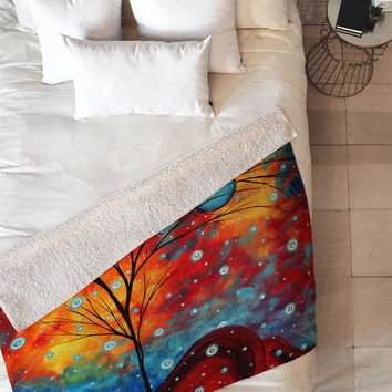 Madart Inc. Summer Snow Fleece Throw Blanket