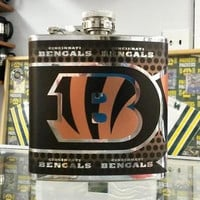 NFL Cincinnati Bengals 6oz Stainless Steel Flask with 360 Wrap