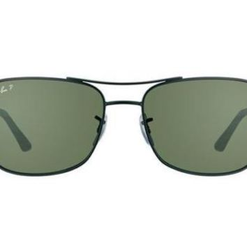 NEW Ray Ban RB3515 0069A ACTIVE LIFESTYLE Matte Black Mens Sun Polarised