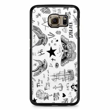 Harry Styles Tattoos Samsung Galaxy S6 Case