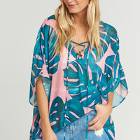 Peta Lace Up Tunic ~ Palms Away