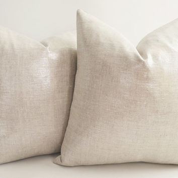 Sukan metallic silver pillows - decorative pillows silver  - silver throw pillow - home décor pillows 14 16 18 20 22 24