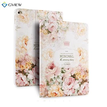 Gview 3D Embossing Case For Ipad Air 2 PU Leather Smart Case for iPad Air 2 in Unique Fashion Floral Luxury Totem Vintage Design