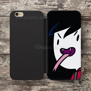 Adventure Time Marshall Lee Wallet Case For iPhone 6S Plus 5S SE 5C 4S case, Samsung Galaxy S3 S4 S5 S6 Edge S7 Edge Note 3 4 5 Cases