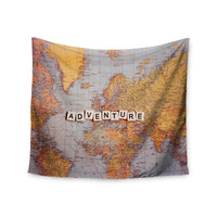 "Sylvia Cook ""Adventure Map"" World Wall Tapestry"