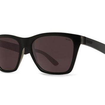 VonZipper - Booker Black Satin PWR Sunglasses, Wildlife Rose Polarized Lenses