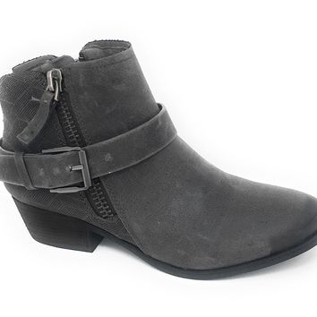Not Rated Tessa Grey Heeled Ankle Booties